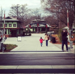 Pullen Park at Christmastime.