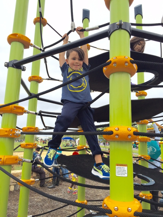 It's official: Briar Chapel has THE coolest playground in the Triangle. Brilliant, thoughtful play structures. Jack loved it!
