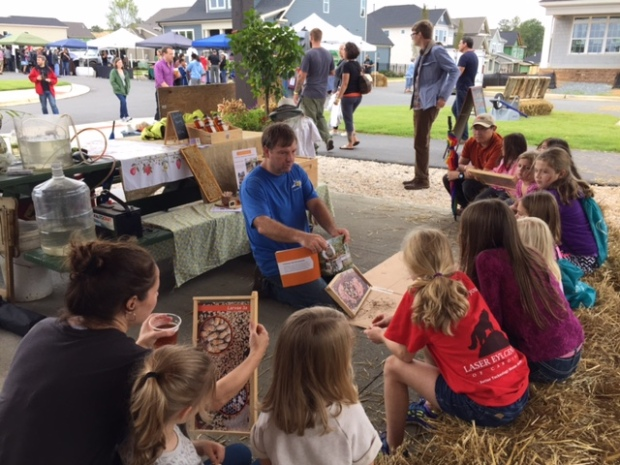 There was a great program for kids, where they could learn more about food and farming and bees.