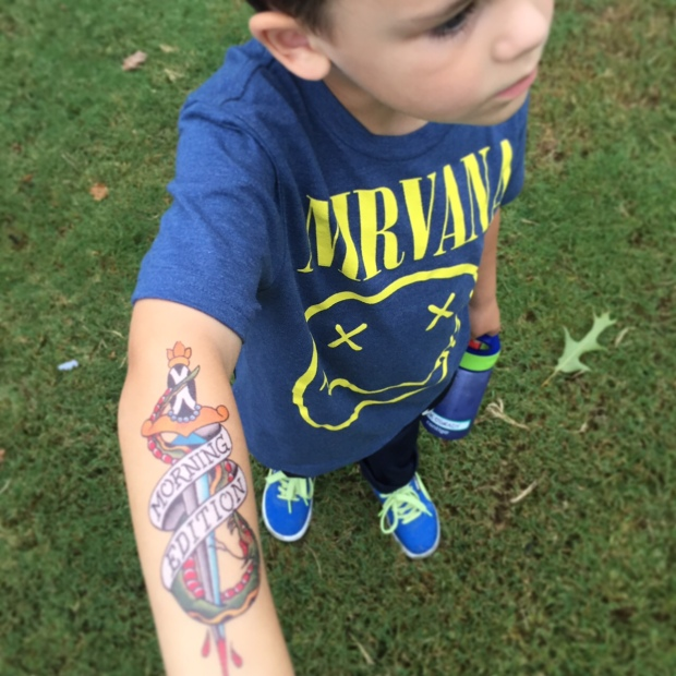 WRAL won my heart with #publicradio inspired tats for the kiddos.