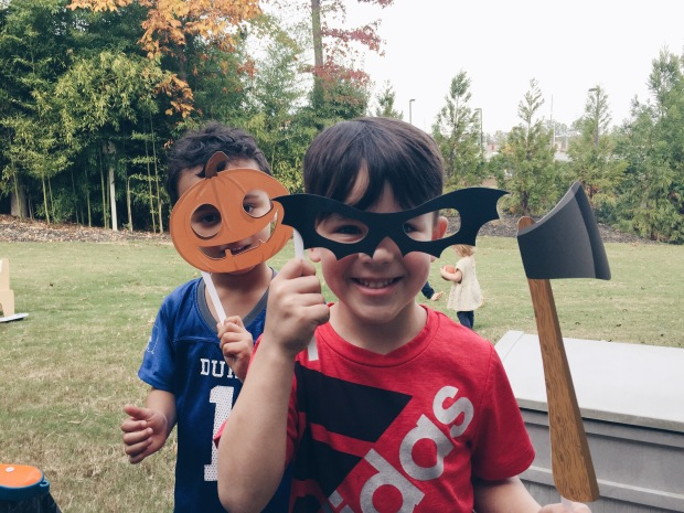Party tip #47: Cutout photo props on sticks are a surefire way to get an Instagram-worthy party started.